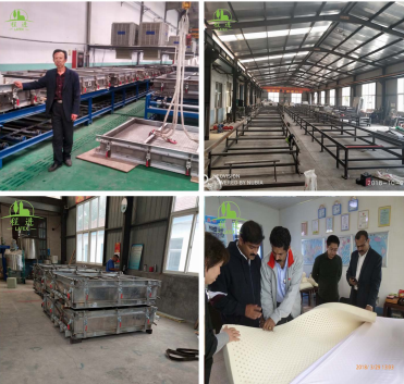 Mold forming latex mattress production line